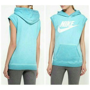 Nike Sleeveless Hoodie Vest Top Oversize 90s Style
